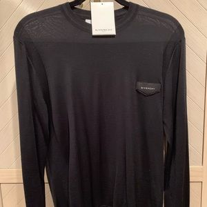 Auth Givenchy Men's Black Logo Sweater MSRP: $685